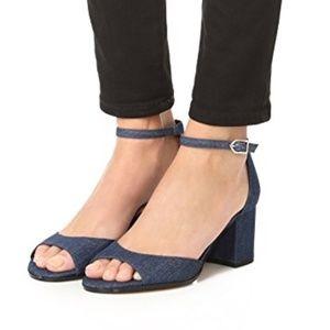 Sam Edelman SUZIE denim block heel sandal 6.5